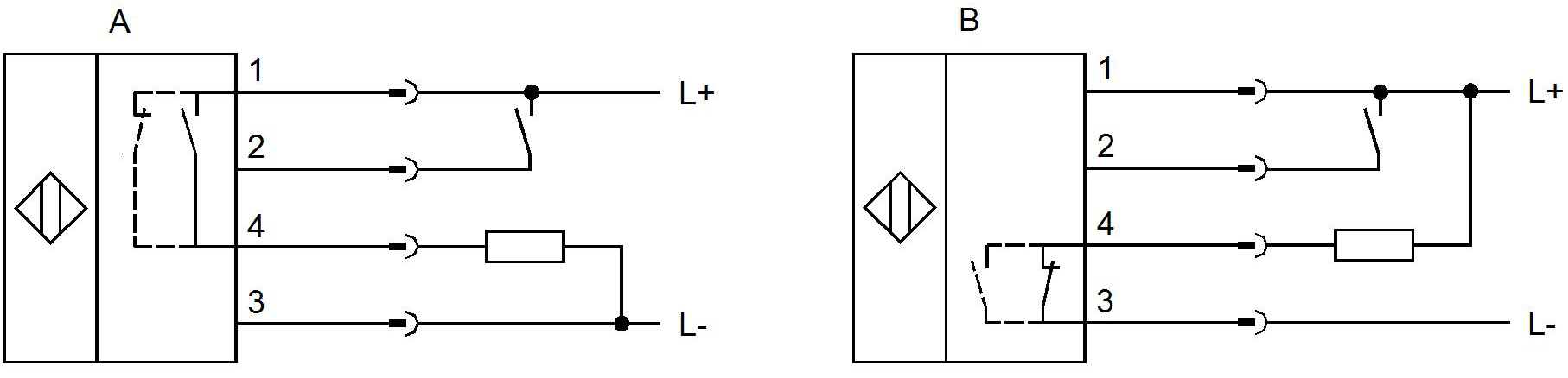Receiver Pnp Output Wiring Diagram Emitter M12 Library Npn Circuit