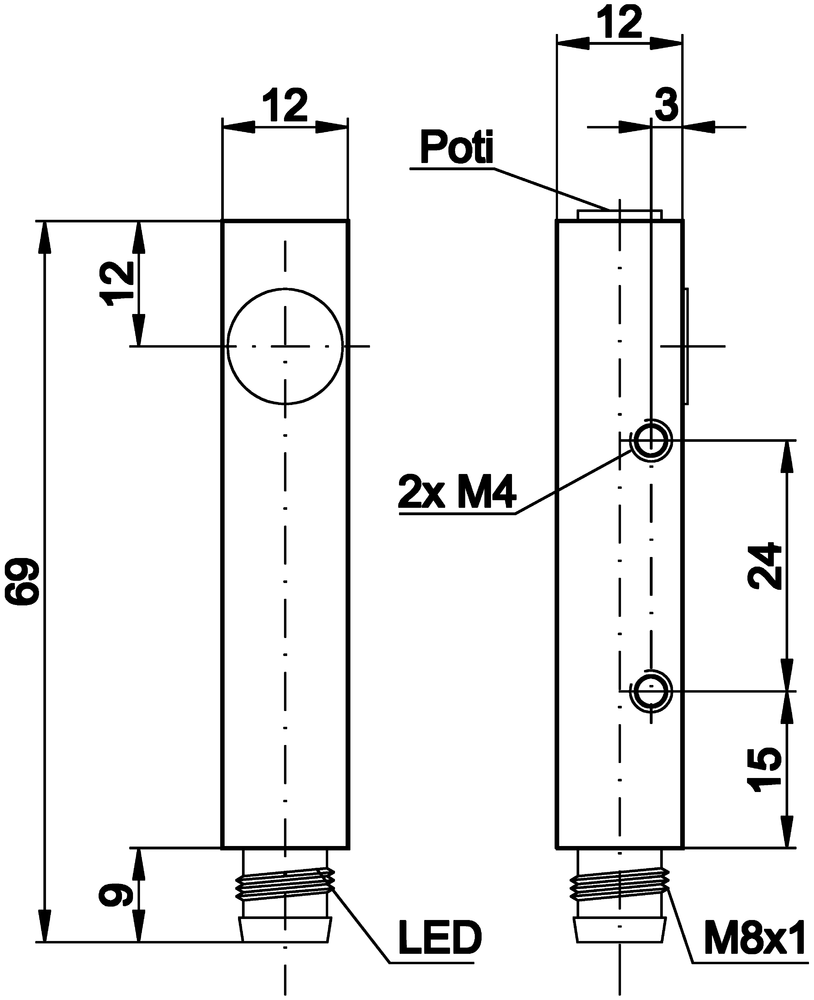 Details Ipf Electronic M4 Schematic Dimensional Drawing