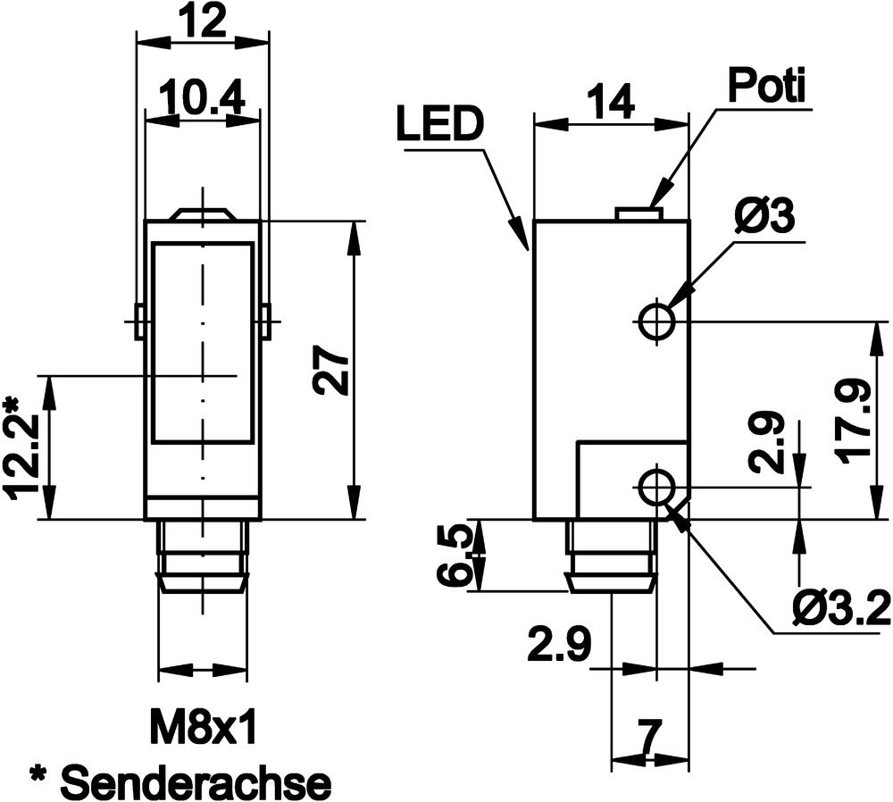 Receiver Pnp Output Wiring Diagram Emitter M12 Diagrams Also Photoelectric Sensor On Omron Hmi