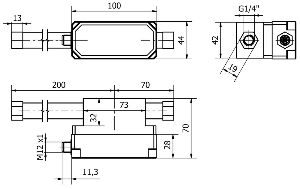 Připojené výkresy pro snímač tlaku